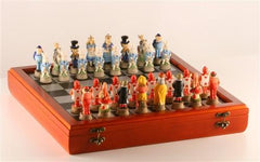 Alice in Wonderland on Cherry Chest - Chess Set - Chess-House