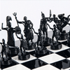 Aluminum Greek Mythology Chess Set - 14""