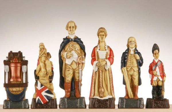 American Revolutionary War Chess Pieces - SAC Hand Decorated - Piece - Chess-House
