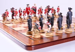 American War for Independence Chess Set on Padauk Board - Chess Set - Chess-House