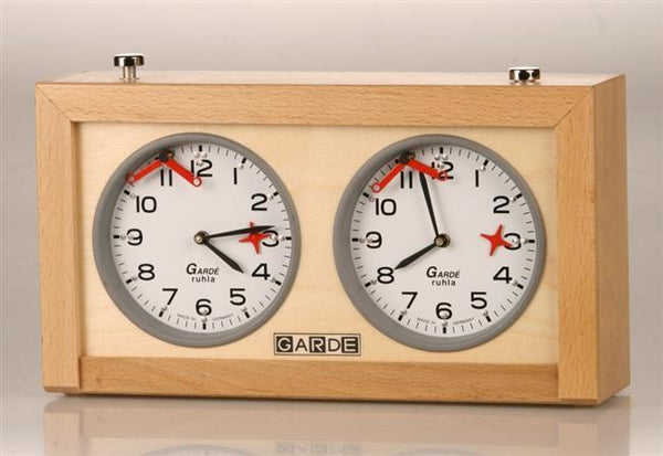 Analog Garde Wood Chess Clock For the Blind - Clock - Chess-House