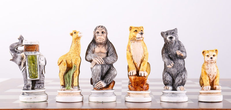 Animal Kingdom Chess Pieces from Italy