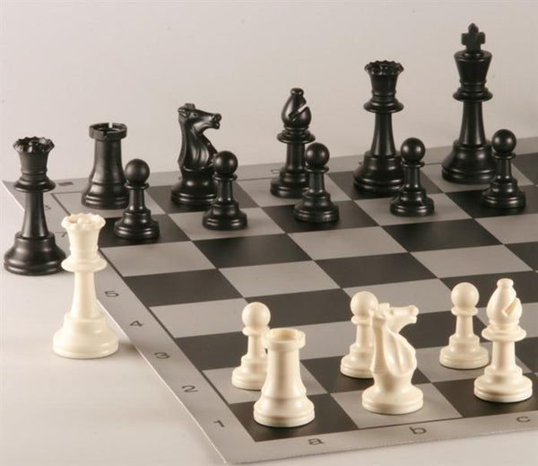 Armory Professional Chess Set - Brushed Aluminum Look - Black - Chess Set - Chess-House