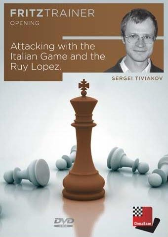 Attacking with the Italian Game & Ruy Lopez - Tiviakov - Software DVD - Chess-House