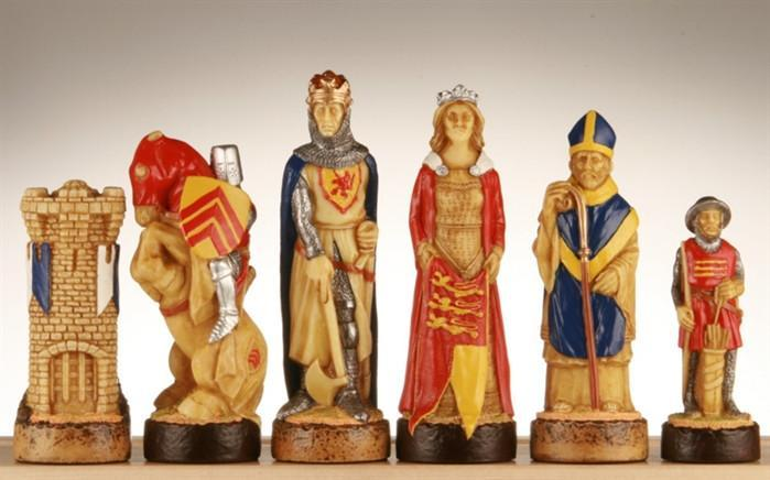 Battle of Bannockburn Handpainted Chess Pieces - SAC