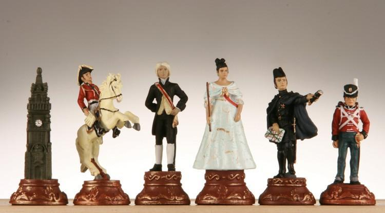 Battle of Waterloo Poly Chessmen - Chess Pieces