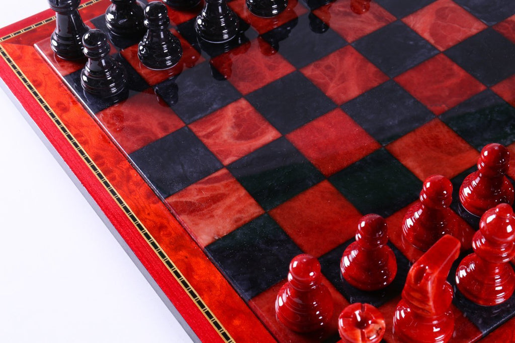d9d939c0f5e ... Black and Red Alabaster Chess Set with Wood Frame - Chess Set -  Chess-House ...