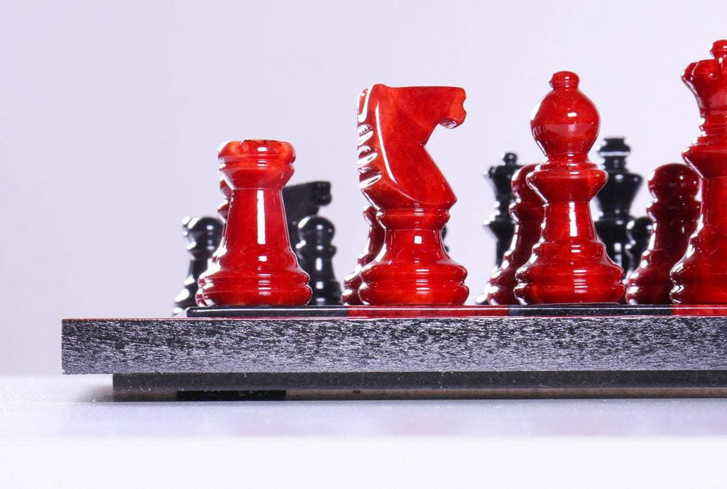 88b21c62079 ... Black and Red Alabaster Chess Set with Wood Frame - Chess Set -  Chess-House