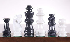 Black and White Marble Chess Pieces Piece