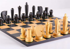 Black Berliner On Black Basic Board - Chess Set - Chess-House
