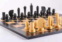 Black Berliner On Black Birdseye Board - Chess Set - Chess-House