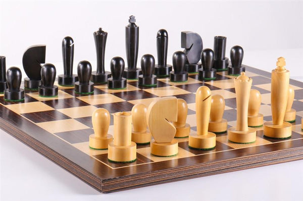 Black Berliner On Ebonized Board - Chess Set - Chess-House