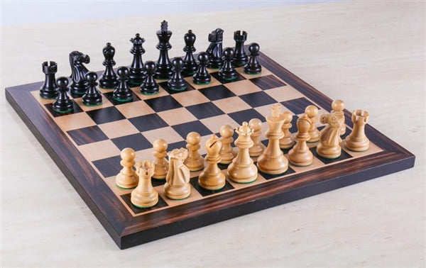 "Black Stained Chess Set - 15"" - Chess Set - Chess-House"