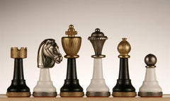Wood and Metal Chess Pieces