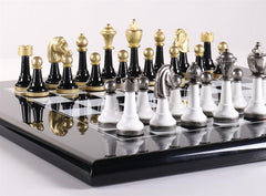 Black & White Wood And Metal Set - Chess Set - Chess-House
