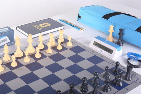 Blue Chess Set Combo #604 - Chess Set - Chess-House
