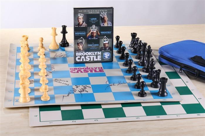 Brooklyn Castle Movie with Autographed Chess Set