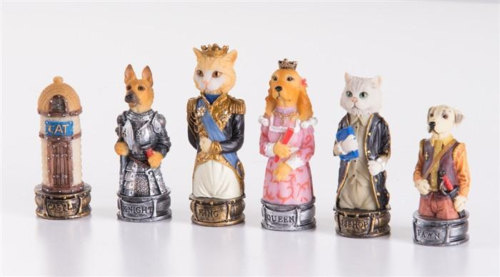 Cats Vs. Dogs Chessmen - Chess Pieces