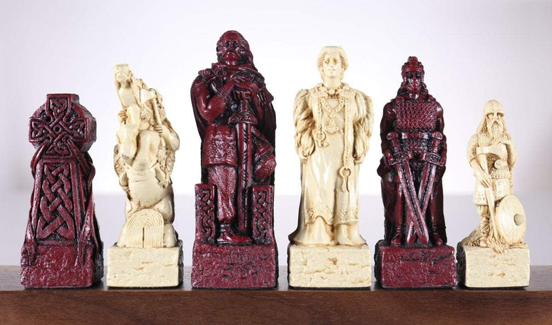 Celtic Vs. Vikings Chess Pieces - SAC Antique Finish
