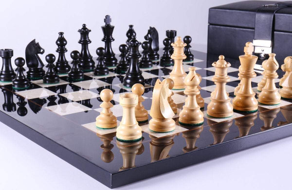 Championship Set on Bird's Eye Maple with Storage - Chess Set - Chess-House