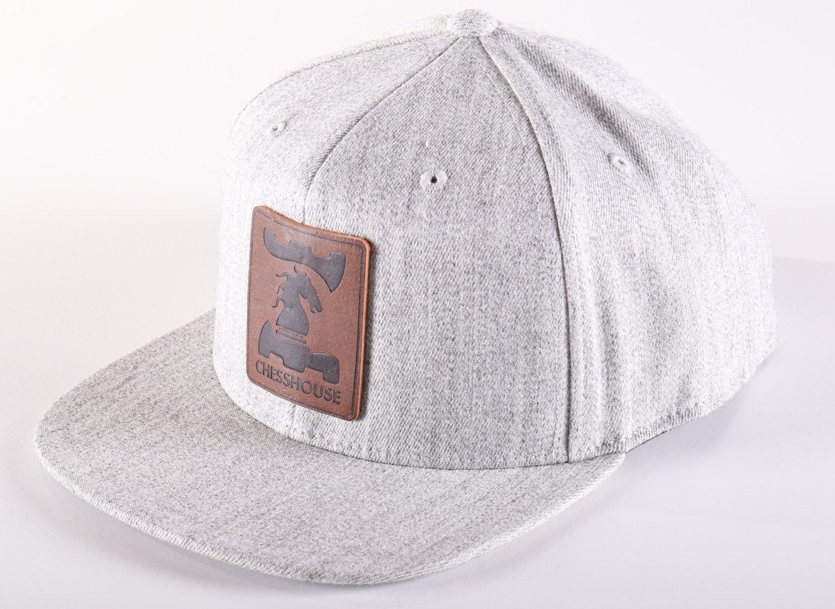 Chess House Flexfit Snapback Hat with Leather Patch - Accessories