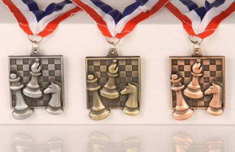 Chess Medals - Square Style - Award - Chess-House