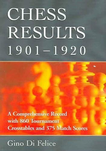 Chess Results, 1901-1920  -  Di Felice - Book - Chess-House