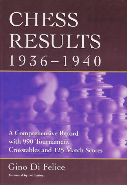 Chess Results, 1936-1940 - Di Felice - Book - Chess-House