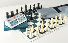 Chess Set Combo #9 Silver Slate Pro - Chess Set - Chess-House