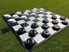 ChessHouse Giant Checker Set - With Board Chess Set