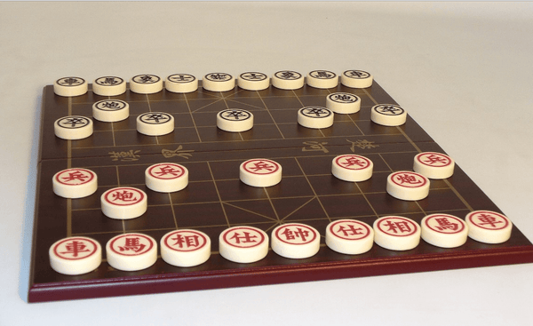Chinese Chess Set with Wooden Board