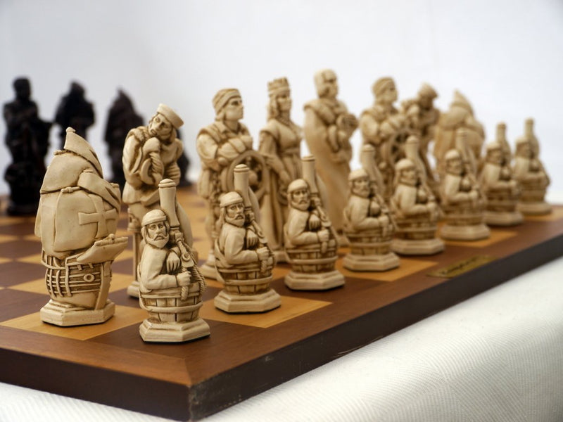 Christopher Columbus Chess Pieces by Berkeley - Russet Brown