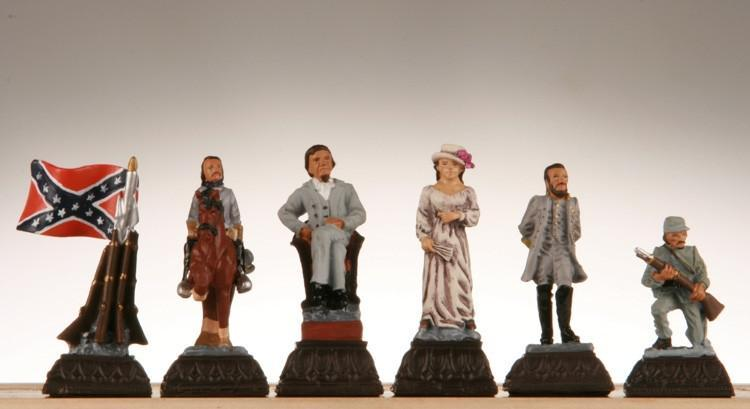 Civil War Chess Pieces - Metal -  Chess Pieces