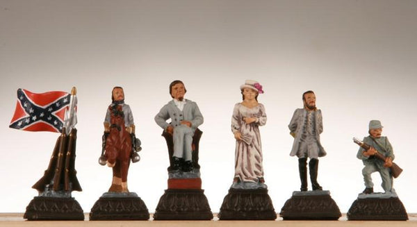 Civil War Chess Pieces - Metal - Piece - Chess-House