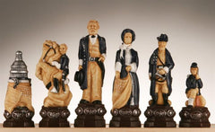 Civil War Chess Pieces-Studio Anne Carlton, Hand Decorated - Piece - Chess-House