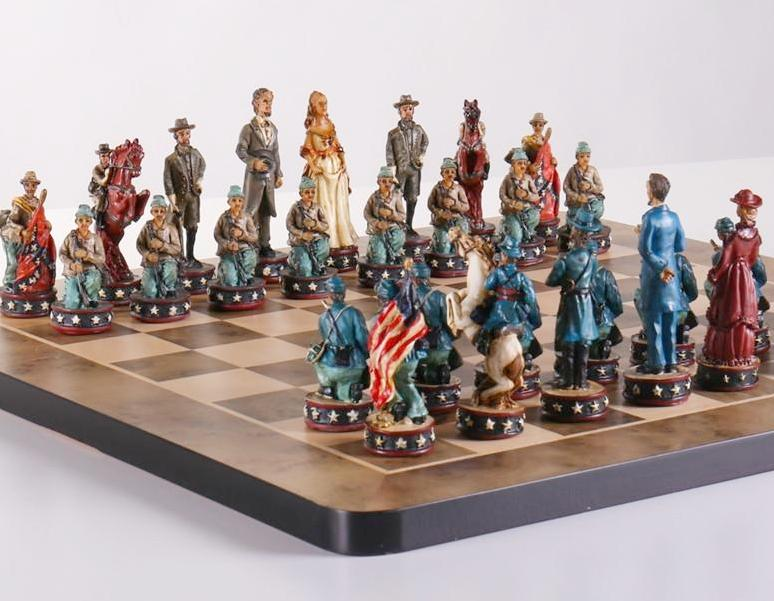 Civil War Chess Set Chess House