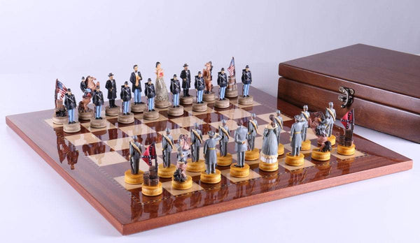 Civil War Chess Set with Storage - Chess Set - Chess-House