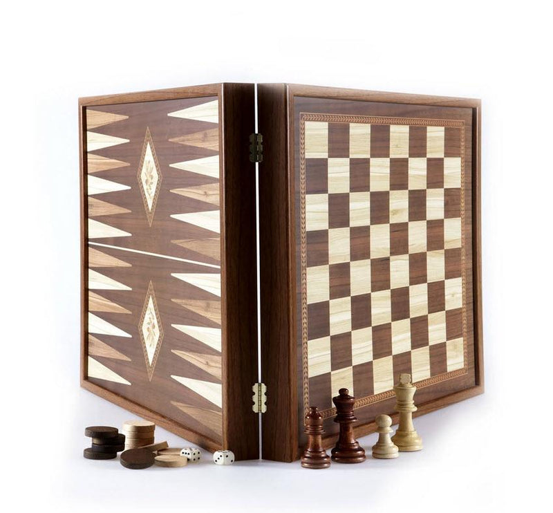Classic Style Chess and Backgammon Set