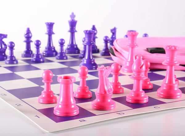 Club Chess Set Color Combo 1 - Pink and Purple - Chess Set - Chess-House