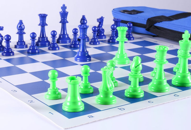 Club Chess Set Color Combo 2 - Green and Blue