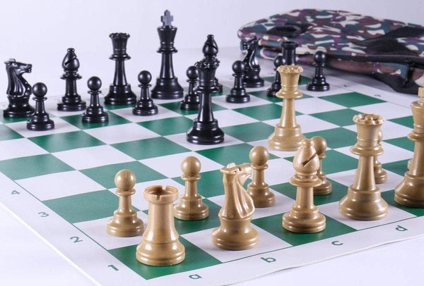 Club Chess Set Color Combo 5 - Olive Camo - Chess Set - Chess-House