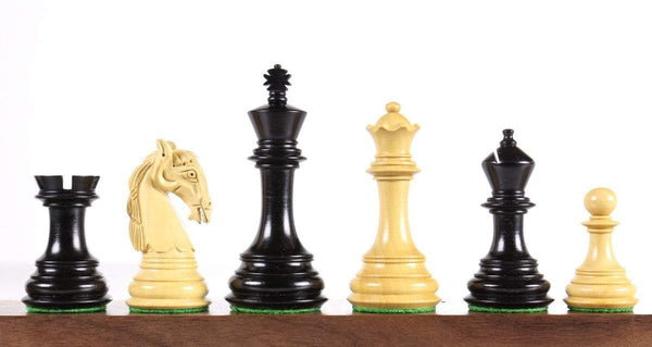 "Colombian 3.75"" Ebonized Chess Pieces Piece"