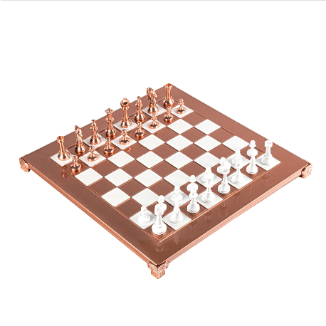 Copper Staunton Chess Set - 11