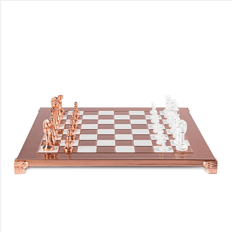 Copper Staunton Chess Set - 14