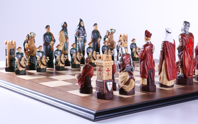 Crusades Chess Set with Maple and Walnut Board