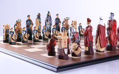 Crusades Chess Set with Maple and Walnut Board - Chess Set - Chess-House
