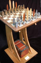 Dave Reynolds Surf Chess Set and Wave Table - Table - Chess-House