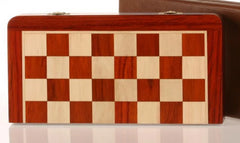 "DEAL ITEM: 12"" Magnetic Folding Chess Set in Blood Rosewood/Maple (JUST THE BOARD) Garage Sale"