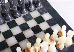DEAL ITEM: 12in. Marble Chess Set - Black & Light Green Board (JUST THE BOARD) Garage Sale