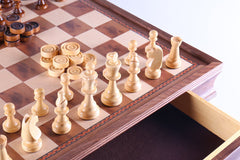 "DEAL ITEM: 19"" Camphor Chess Set with Storage (JUST THE BOARD) Garage Sale"